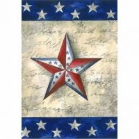 Stars on Star Garden Flag