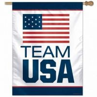 Team USA Vertical Flag - White