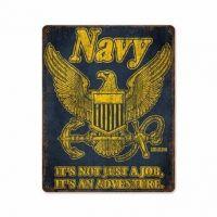 US Navy Retro Steel Sign
