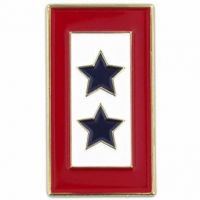 Double Blue Star Flag Pin