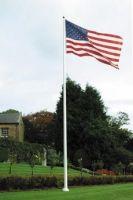 Fiberglass Flagpoles with External Halyards