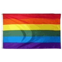 Econo-Poly Rainbow Flag - 3 ft X 5 ft