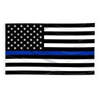 Nylon Printed Thin Blue Line US Flag