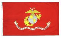 Nylon Marine Corps Flag - 3 ft X 5 ft