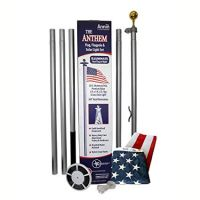 Anthem 20' Residential Lighted Flagpole Set