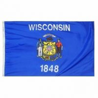3' X 5' Nylon Wisconsin State Flag