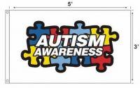 Autism Awareness Flag