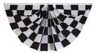 Black & White Checkered Fan