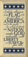 Pledge of Allegiance Decorative Plaque