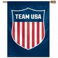 Team USA Vertical Flag - Blue