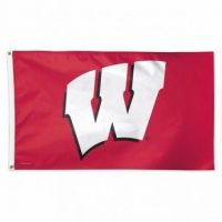 Deluxe University of Wisconsin Flag - 3' X 5'