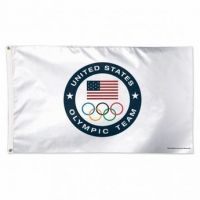 USOC Olympic Rings and US Pride Flag