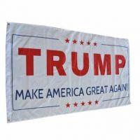 White Donald Trump Make America Great Again Flag