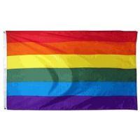 3' X 5' Econo-Poly Rainbow Flag