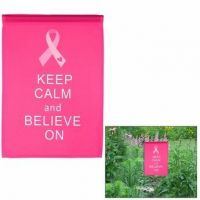 Keep Calm and Believe On Garden Banner