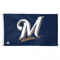 3' X 5' Deluxe Milwaukee Brewers Flag