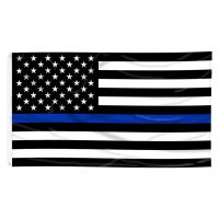Nylon Printed Thin Blue Line US Flag