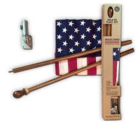 Deluxe Boxed U.S. Flag Kit With Mahogany Pole