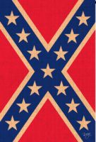 Large Rustic Confederate Banner