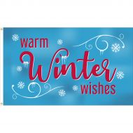 3'x5' Warm Winter Wishes Flag