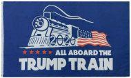 All Aboard The Trump Train Flag