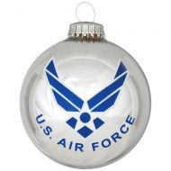 U.S. Air Force Glass Ornament With Logo And Hymn