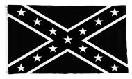 Black and White Rebel Flag