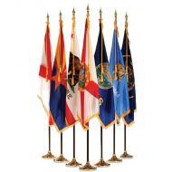 Complete Set of 50 Indoor Mounted State Flag Sets