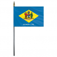4 X 6 Inch Delaware Stick Flags