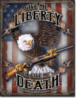 Give Me Liberty Vintage Tin Sign