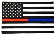 Heavyweight Nylon Red and Blue Line US Flag