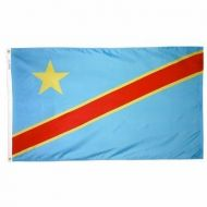 2' X 3' Nylon Democratic Republic of Congo Flag