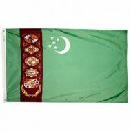 2' X 3' Nylon Turkmenistan Flag