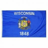 12 X 18 Inch Nylon Wisconsin State Flag