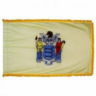 3' X 5' Nylon Indoor/Parade New Jersey State Flag