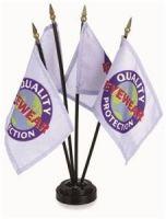 4 X 6 Inch Custom Stick Flags