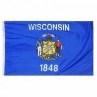 8' X 12' Nylon Wisconsin State Flag