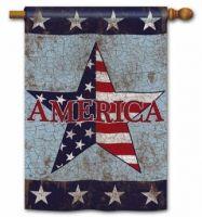 Rustic America Standard Flag