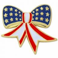American Flag Bow Pin