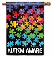 Autism Aware House Flag