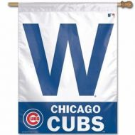 Chicago Cubs W Vertical Flag