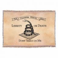 Don't Tread on Me Throw Blanket