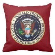 Donald Trump Presidential Throw Pillow