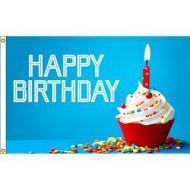Happy Birthday Candle Flag