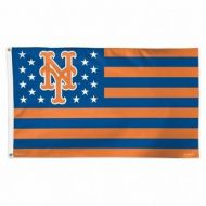 NY Mets Stars and Stripes Flag
