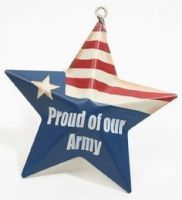 Proud Of Our Army Metal Star Ornament