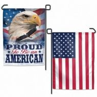 Proud To Be An American Eagle Garden Banner