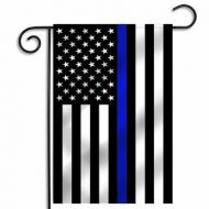 Thin Blue Line US Garden Flag