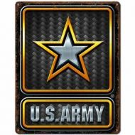 US Army Carbon Fiber Vintage Metal Sign
