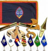 Indoor Mounted Guam Flag Sets